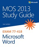 MOS 2013 Study Guide for Microsoft Word (eBook)