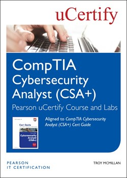 CompTIA Cybersecurity Analyst (CSA+) Pearson uCertify Course and Labs Access Code Card