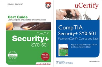 CompTIA Security+ SY0-501 Pearson uCertify Course and Labs and Textbook Bundle, 2nd Edition
