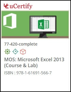 MOS: Microsoft Excel 2013  (77-420) Lab and Courseware