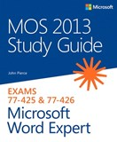 MOS 2013 Study Guide for Microsoft Word Expert (eBook)