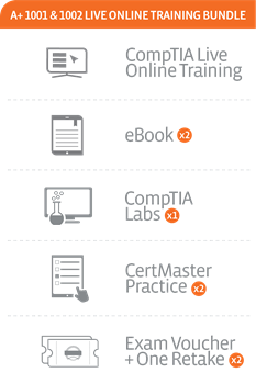 CompTIA A+ Core 1 and Core 2 (220-1001 and 220-1002) Live Online Training Bundle (January 6th – 31st, 2020)