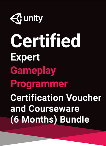 Unity Certified Expert Gameplay Programmer Bundle - certification and courseware (6 months) bundle