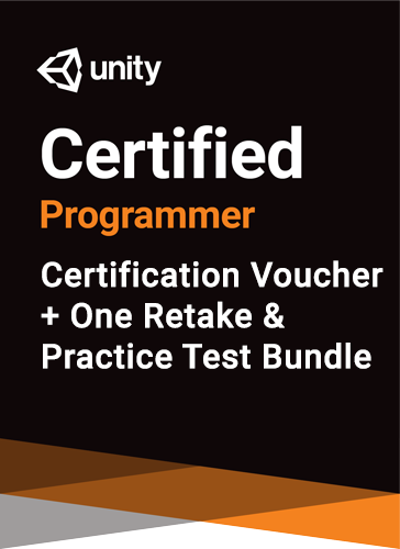 Unity Certified Programmer Bundle - certification plus one retake (if necessary) + practice test