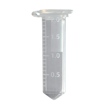 Conical Base 2.0 mL Microcentrifuge Tubes, Natural