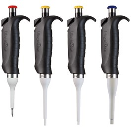 ErgoOne Single Channel Pipettes, Set of 4, 2.5, 20, 200, 1000 µL