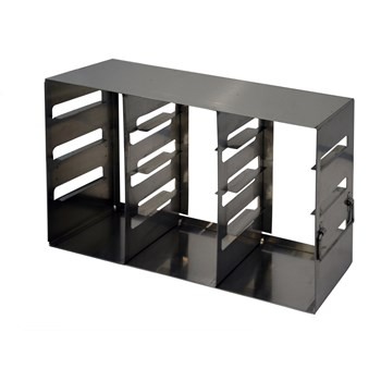 "12-place (3 x 4) eco-design upright freezer rack for 2"" H boxes"