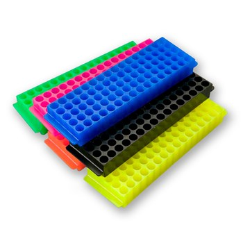 80-Place Tube Rack, Mixed Neon Colors