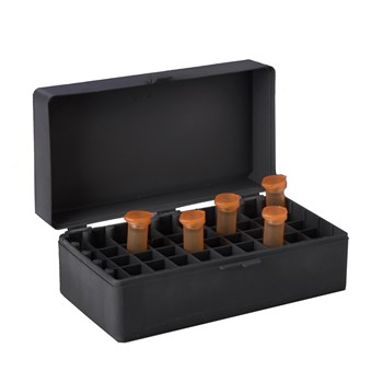 50-Place Hinged Boxes, Black