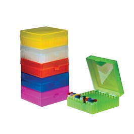 100-Place Hinged Boxes, Mixed Neon and Natural Colors