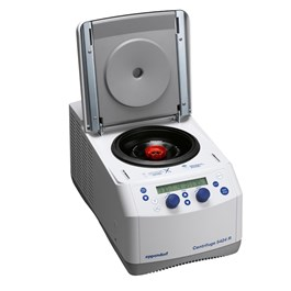 Eppendorf Centrifuge 5424 R, Rotary Knobs, Lid Open