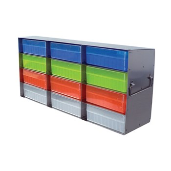 12-Place Upright Freezer Rack for 100-Place Hinged Boxes