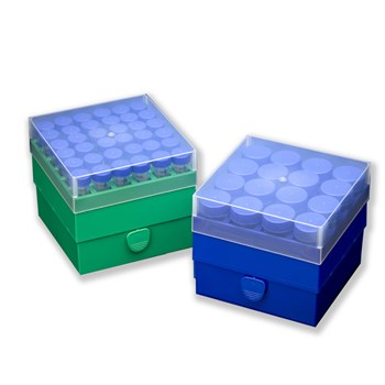 36-Place and 16-Place Polypropylene Box for 15 mL Tubes