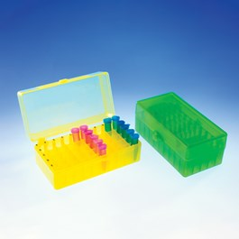 50-Place Hinged Boxes, Mixed Neon Colors