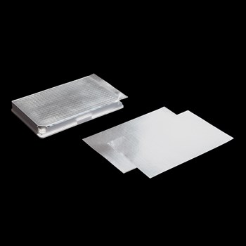 Aluminum sealing foil for long term cold storage at -80C