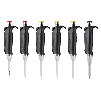 ErgoOne Single Channel Pipettes, Set of 6, 2.5, 10, 20, 100, 200, 1000 µL
