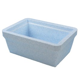 Four liter ice pan, blue