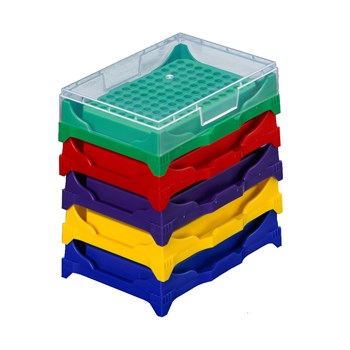 Stackable PCR Tube Rack, Mixed Colors