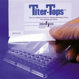 Titer-Tops polyethylene film, pierceable