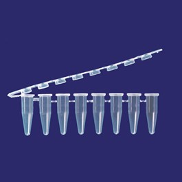 0.2 mL PCR 8-tube FLEX-FREE strip, attached optical cap strip