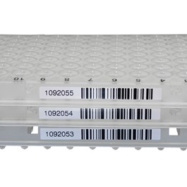 TempPlate Semi-Skirted 96-Well PCR Plate, Straight Skirt, Natural, Barcoded