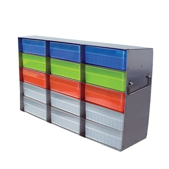 15-Place Upright Freezer Rack for 100-Place Hinged Boxes