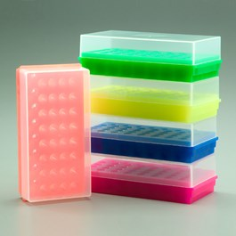 32/8-Place Combo Tube Rack, Mixed Neon Colors