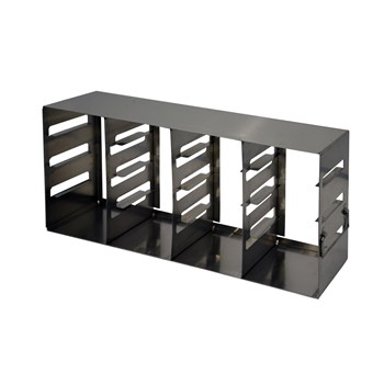 "16-place (4 x 4) eco-design upright freezer rack for 2"" H boxes"