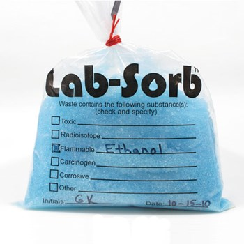 Lab-Sorb Bag with Liquid Solidified