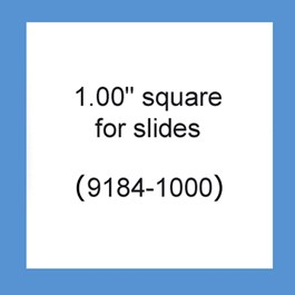 "Square, 1.0"" x 1.0"" Tough-Tags on Sheets"