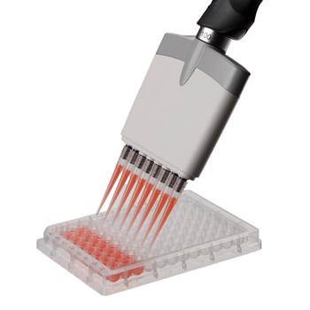 ErgoOne 8-Channel Pipette with Multiple Well Plate