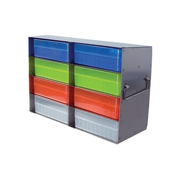 8-Place Upright Freezer Rack for 100-Place Hinged Boxes
