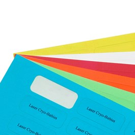 Cryo-Babies Laser Printable Labels on Sheets, White and Colors