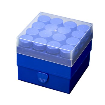 16-Place Polypropylene Box for 50 mL Tubes