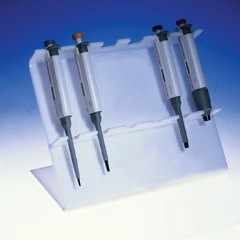 Angled Acrylic 6-Place Pipette Stand