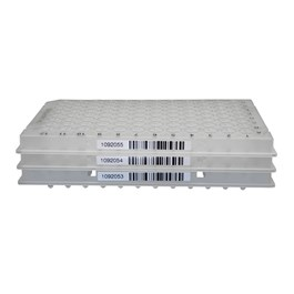 TempPlate Semi-Skirted 96-Well PCR Plate, Low Profile, Natural, Barcoded