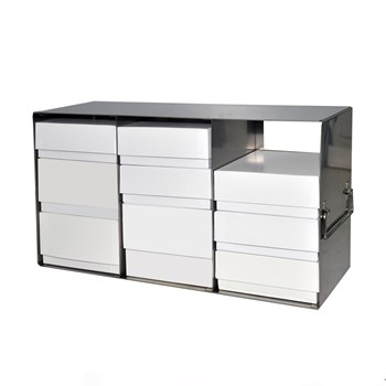 Upright Freezer Rack, Universal Box Height with Boxes