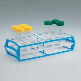 18-Place Polymer Tube Rack, Blue