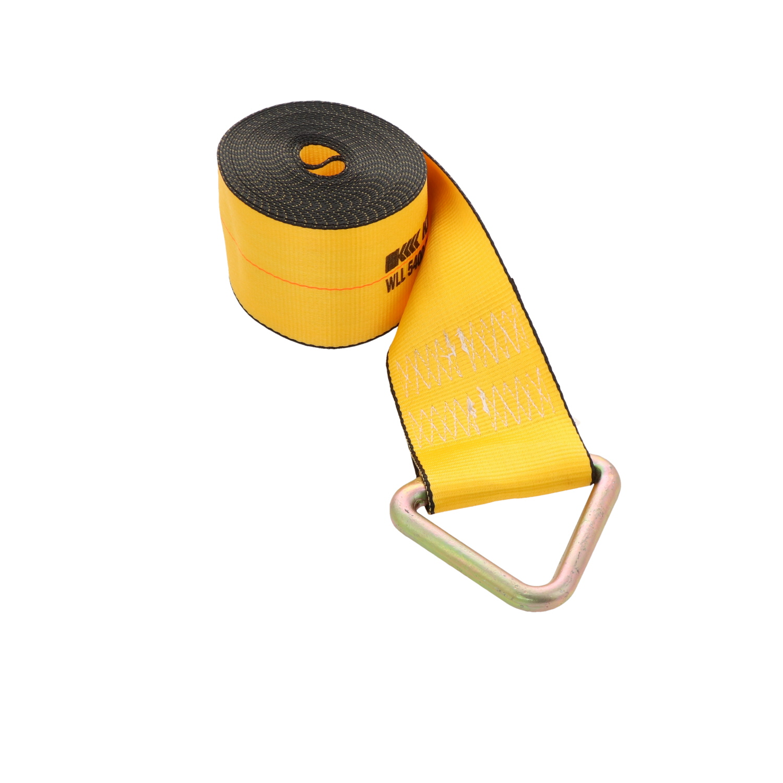"Heavy Duty Flatbed Winch Strap Winch Strap 2/"" x 27/' Delta-Ring Hook"