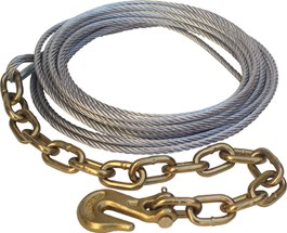 7/32″ x 30′ Cable Assembly w/Chain Anchor
