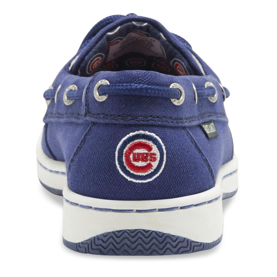 Women's Sunset MLB Chicago Cubs Canvas Boat Shoe v