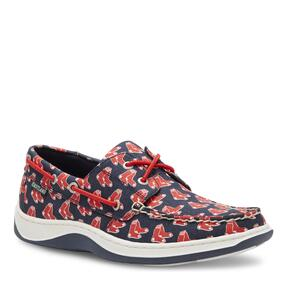 Men's Summer MLB Boston Red Sox Canvas Boat Shoe v