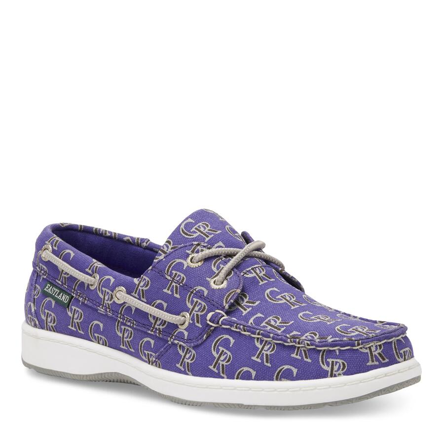 Women's Summer MLB Colorado Rockies Canvas Boat Shoe