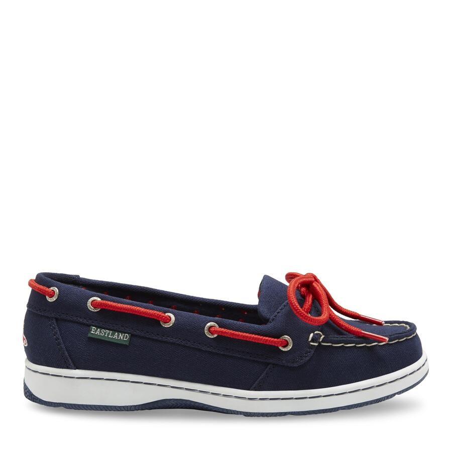 Women's Sunset MLB Boston Red Sox Canvas Boat Shoe