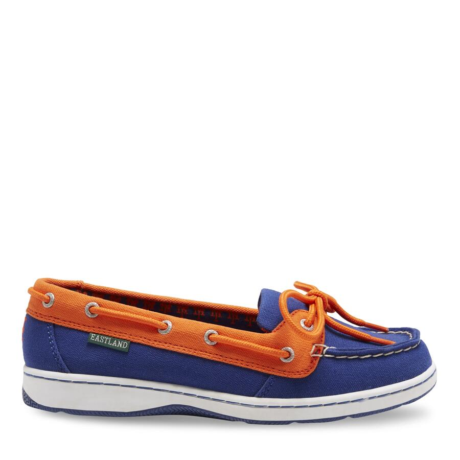 Women's Sunset MLB New York Mets Canvas Boat Shoe